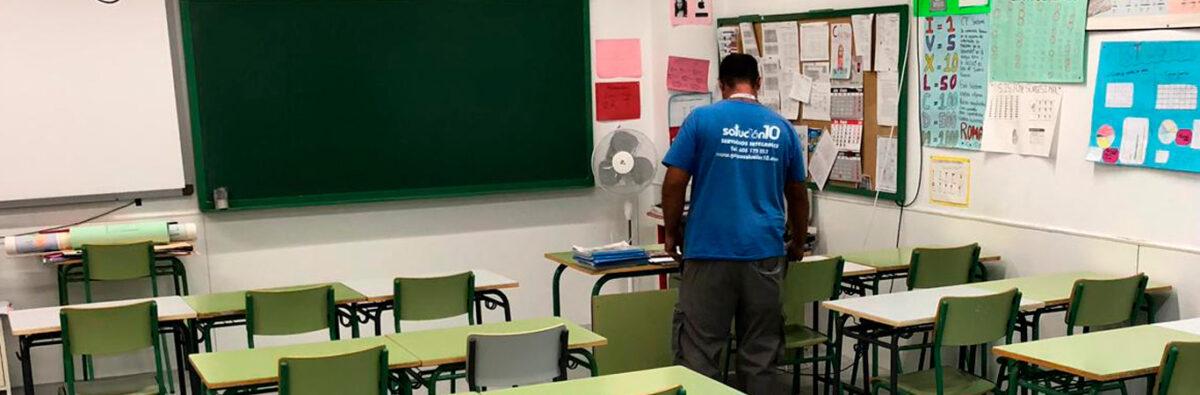 Limpieza de colegios en Madrid